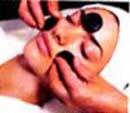 masáž horkýmy kameny(lávovými-hot stones) - obličej